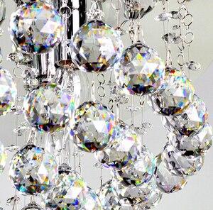 Image 2 - 40 шт./лот 50 мм граненый шар из хрустального стекла для подвесной люстры, призма, подвесные детали, бесплатная доставка