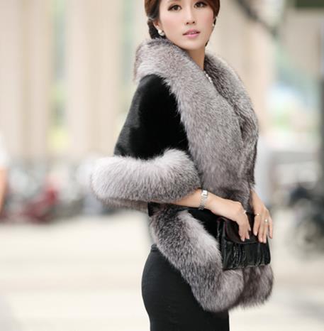Q966 Taille Pour Grande Le Veste Faux Mariage De En Manteau Moelleux Femmes Fausse 2019 Fourrure Outwear Partie D'hiver wqTfRCZ