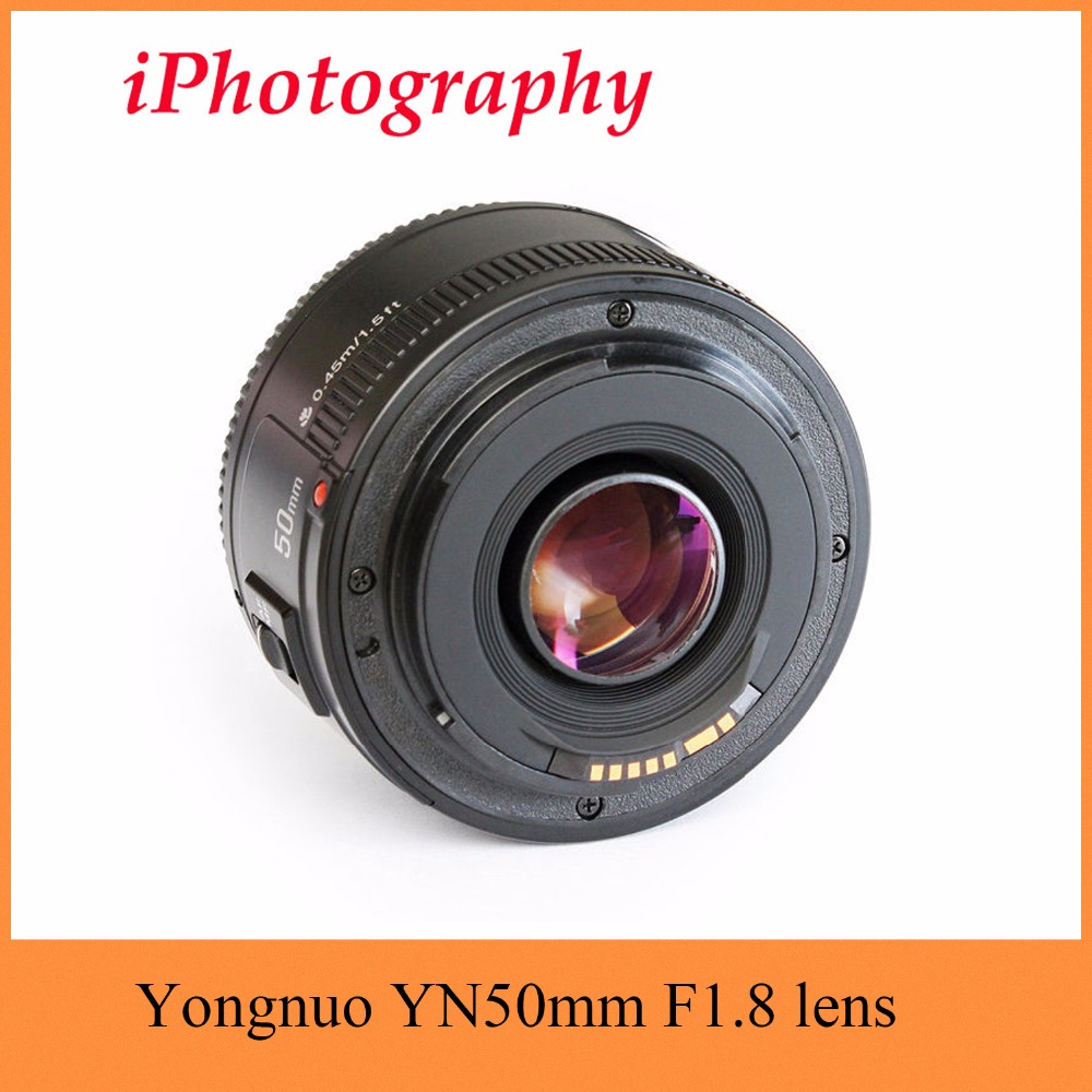 Yongnuo YN50mm F1.8 lens AF/MF Standard Prime Lens YN 50mm f1.8 lens for Canon EOS Rebel Camera