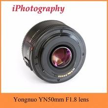 YONGNUO YN50mm F1.8 объектив AF/MF Стандартный объектив с фиксированным фокусным расстоянием YN 50 мм F1.8 объектив для Canon EOS Rebel Камера