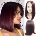 Burgundy Lace Front Bob Wig Colored Cheap Synthetic Wigs Lace Front Silk Wig Pelucas Pelo Natural Sinteticas Lace Wig Ombre Hair