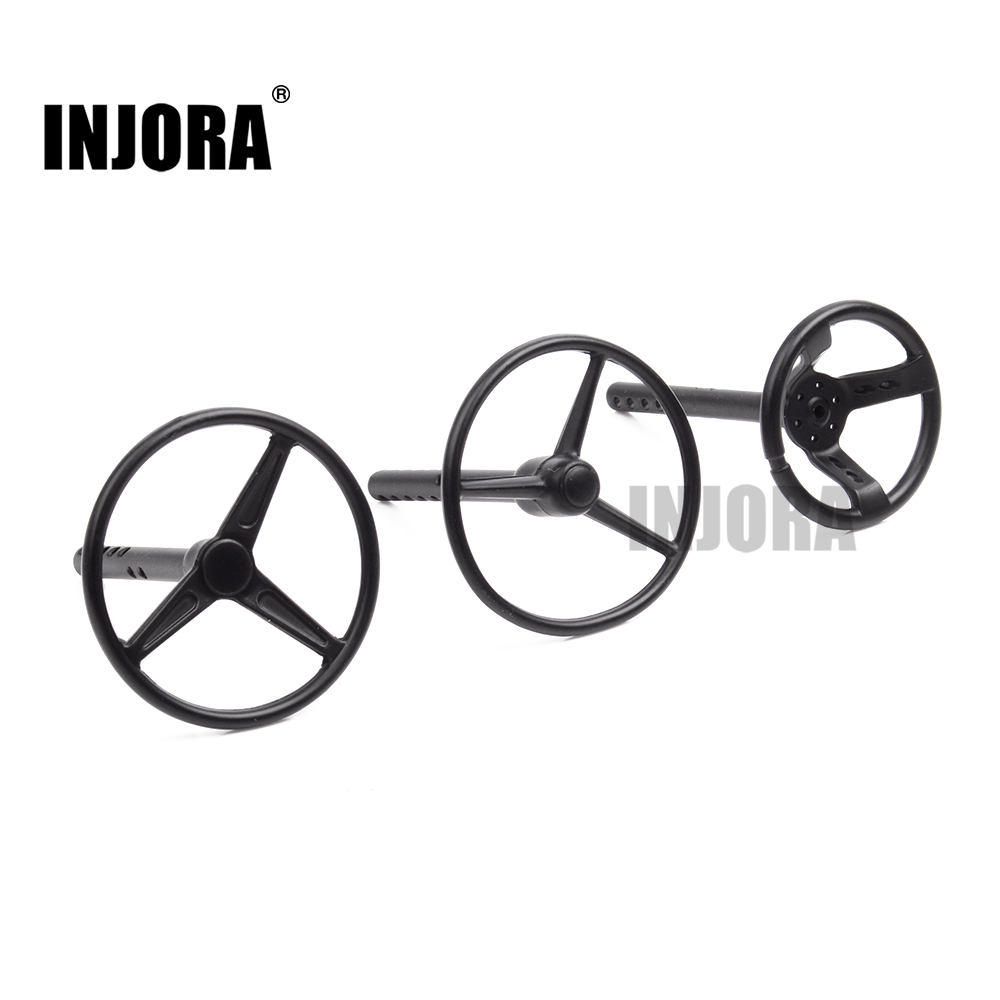 INJORA 1Pcs Metal Steering Wheel for 1:10 RC Rock Crawler Axial SCX10 WRAITH YETI RC4WD D90 D110 RC Climbing Truck Car
