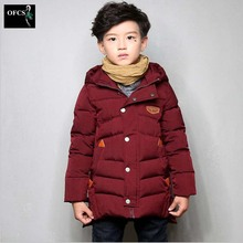 Children In Winter Cotton-Padded Clothes Boy With Thick Cotton-padded Jacket Coat Of Long Children Cotton-Padded Clothes 5-15Age