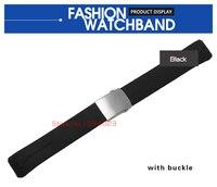 20 мм 21 мм t013420a группы часы Т-касания II эксперт черный силиконовый каучуковый ремешок часы ремешок для t013420a или t047420a