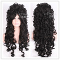 80cm long black Marie Antoinette high quality Anime cosplay party full wig ZY34C