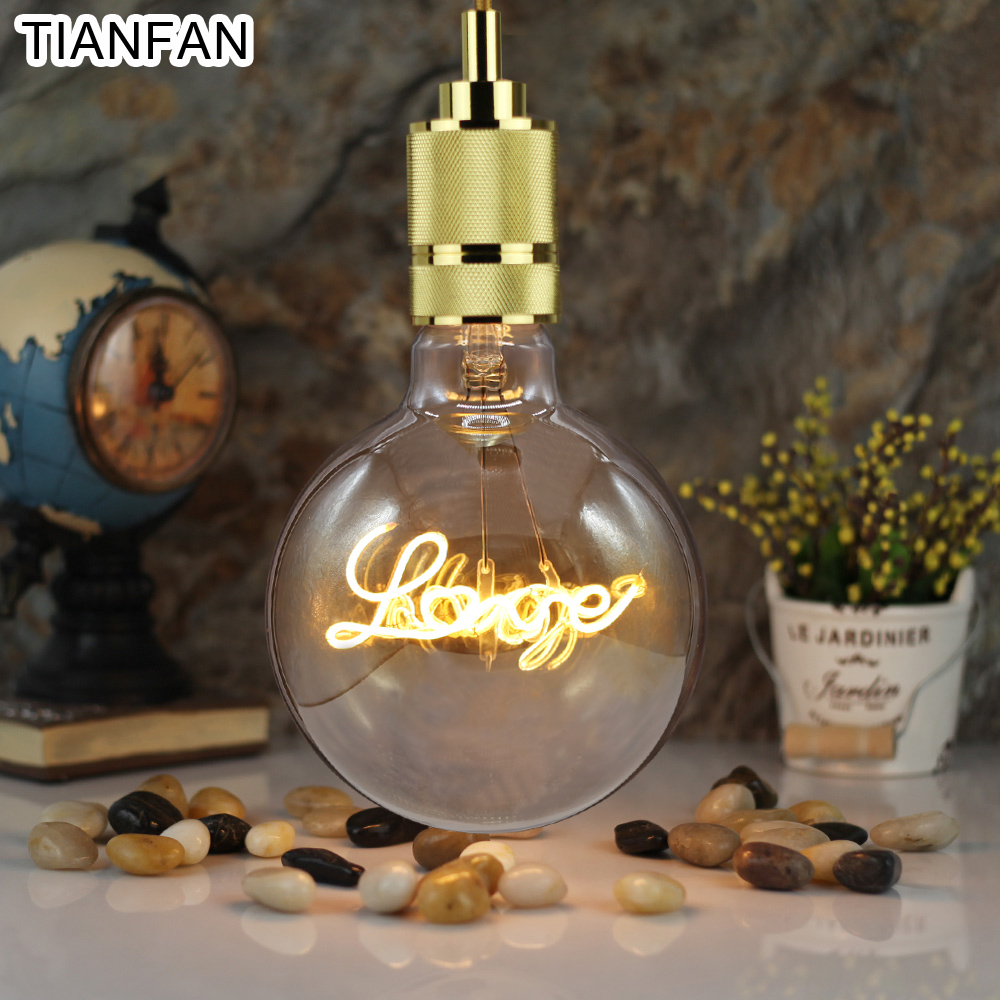 tianfan globe vintage led bulbs 4w edison bulb love led. Black Bedroom Furniture Sets. Home Design Ideas