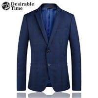 Erkek Casual Blazers Mavi Çizgili Örgün Suit Ceket Erkekler Moda 2018 Adam Blazer Giysileri Slim Fit İş Blazer Erkekler için DT400