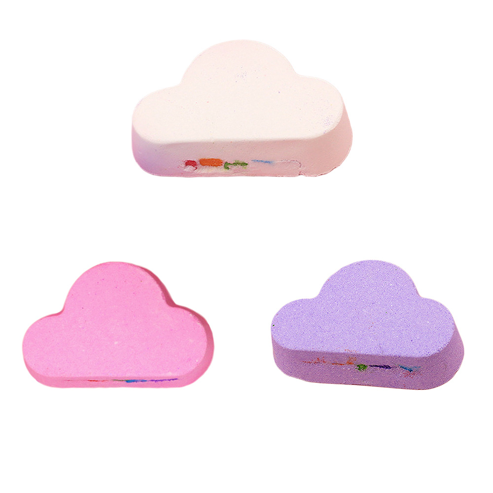 Organic Bath Salt Set Essential Oil Natural Skin Care Cloud Rainbow Bath Salt Exfoliating Moisturizing Bubble Bath Bombs Ball