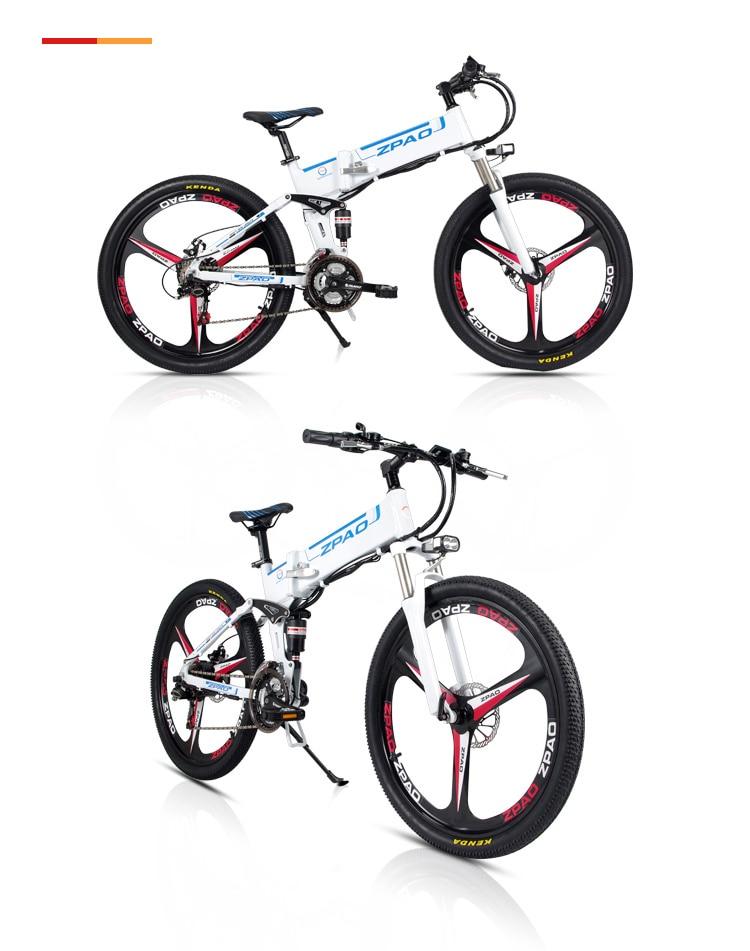 HTB1uA19h3fH8KJjy1zcq6ATzpXa8 - 21 Velocity, 26 inches, 48V/15A, 350W, Folding Electrical Bicycle, Mountain Bike, Lithium Battery, Aluminum Alloy Body, Disc Brake.