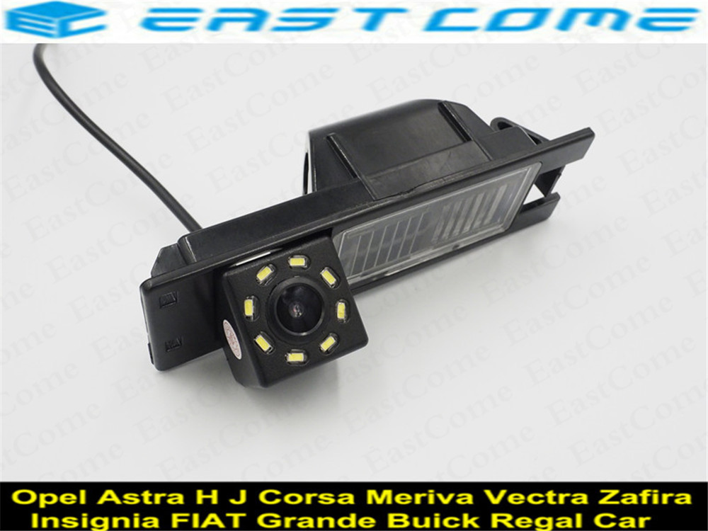 170 Graus Lente 8LED Estacionamento Câmera de visão Traseira Do Carro para Opel Astra H J D Corsa Meriva UM Vectra C insignia Zafira B FIAT Grande