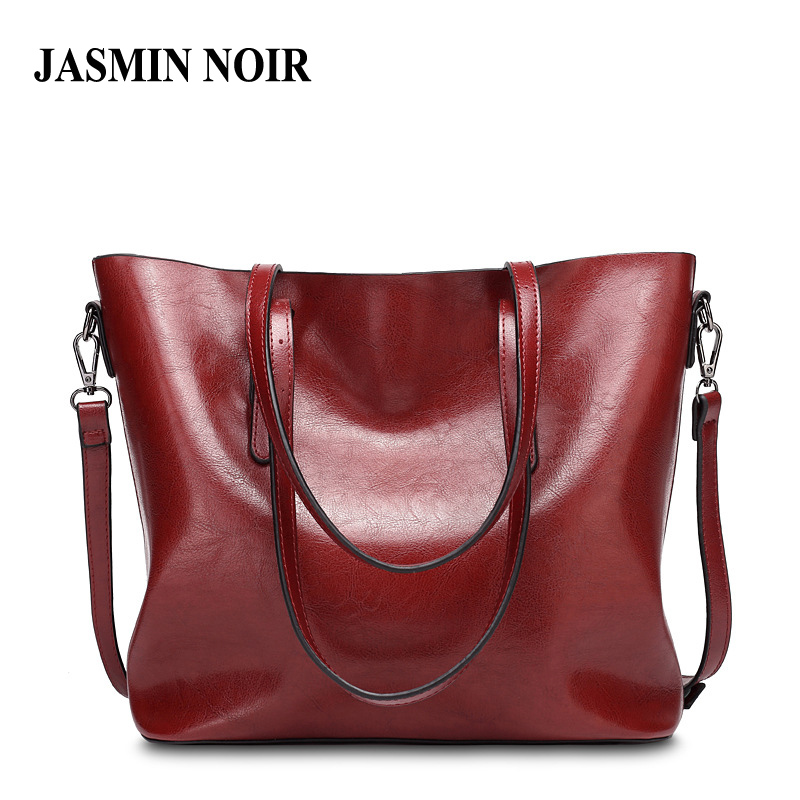 ФОТО 2017 Fashion Design Women Wax Leather Big Handbag Vintage Style Lady PU Leather Shoulder Bags Female Dual Fuctions Large Totes