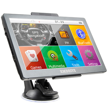 """KMDRIVE 8GB 7"""" Touch Screen GPS Navigation with Bluetooth & AV-In Support"""