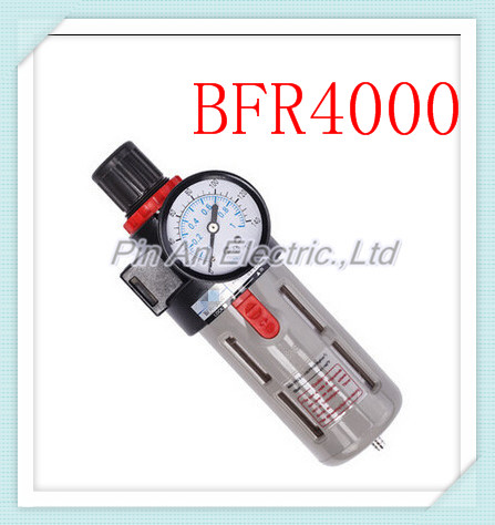 Free Shipping 1/2  BFR-4000 Source Treatment Unit Pneumatic Air Filter Regulator With Pressure Gauge + Cover BFR4000 1 4 bfr 2000 air source gas treatment pressure filter regulator model bfr2000 with pressure gauge