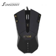 New Brand Sunsonny SM SG800 IMP Wired USB Mouse 2500DPI Desktop font b Gaming b font