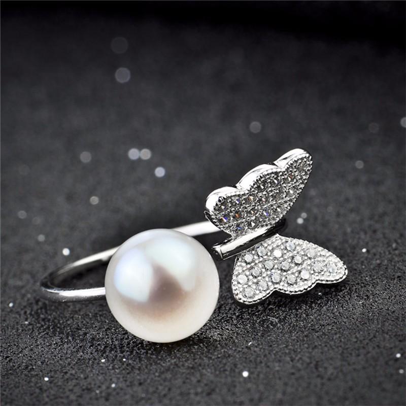 Silver pearl ring GNJ0585 (9)