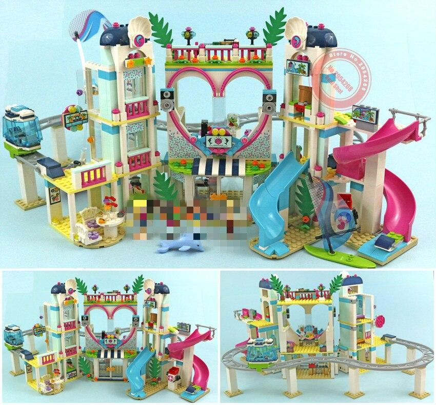 New Friends Heartlake Roller coaster fit Friends girls Game house girls gift figures city Building Block