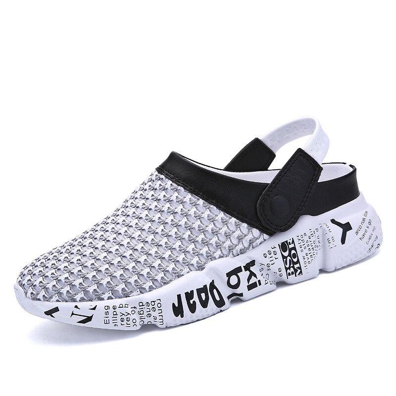 Men beach shoes,Slip On Garden Shoes Lightweight Beach Sandals For Men Slippers Summer Men Shoes Size 39-46