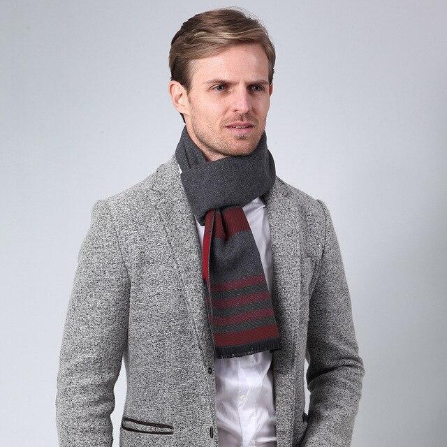 Зима новый классический атмосфера полосы мужчины шарф Моды деловые мужчины темперамент шарф