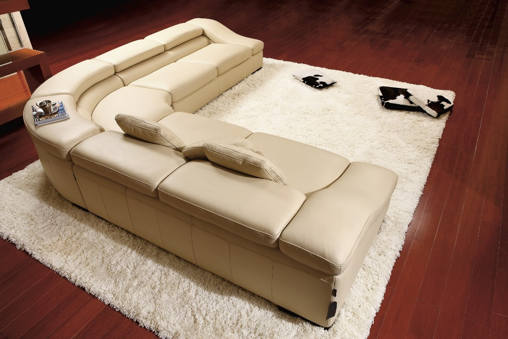 ko ægte læder sofa stue hjemmemøbler sofa sofaer stue sofa sektion - Møbel - Foto 6