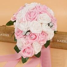 Хрустальные букеты для подружки невесты розы искусственный пенопласт