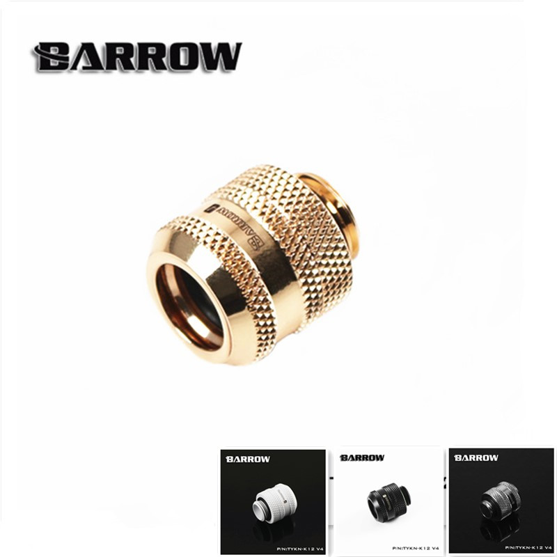 Barrow TYKN-K12 V4, OD12mm Hard Tube Fittings, G1/4 Adapters For OD12mm Hard Tubes