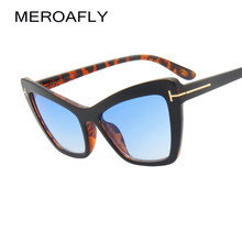 f5092a02df6 MEROAFLY Fashion Cat Eye Sunglasses Women Brand Designer Sexy Stylish Sun  Glasses For Women Female Big Frame shades UV400