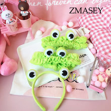 2019 New Women Spring Headband Creative frog eye Elastic Hair Bands Soft Solid Girls Hairband Hair Accessories(China)