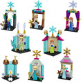 JG117-118 Girl Friends Figures Elsa's Ice Castle Anna Elsa Queen Kristoff Olaf Building Toy Christmas gift