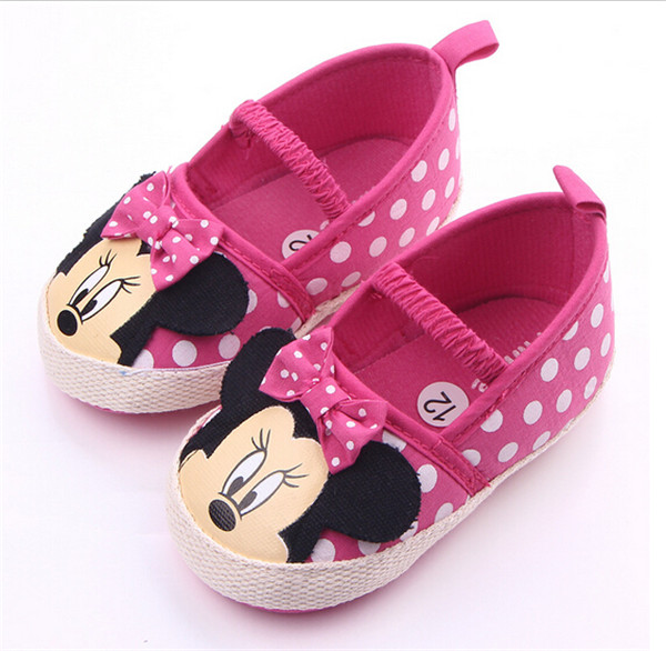 Mother & Kids ... Baby Shoes ... 32624631315 ... 4 ... New Cartoon Baby Shoes Infants Girls First Walkers Soft Bottom Toddlers Crib Shoes ...