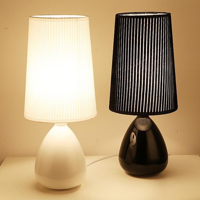 Moderno semplice arte ceramica fabic paralume lampada da tavolo ...