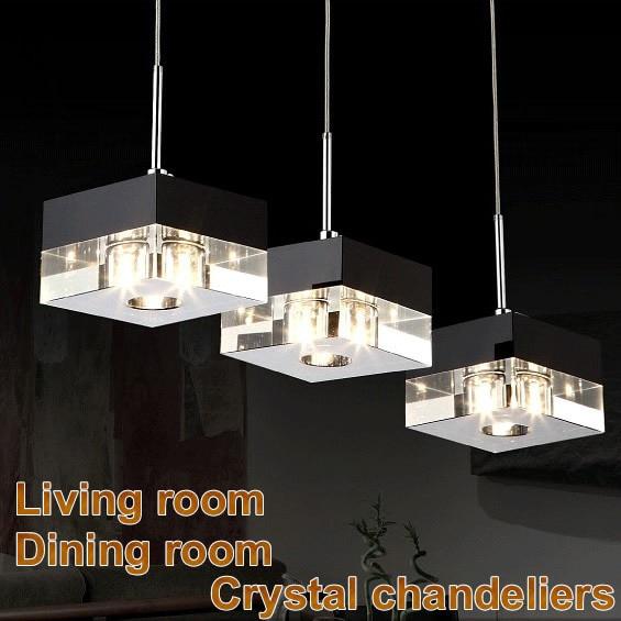 led moderne lustre en cristal 110 v 220 v luminaires lustre cristal d coratif salon salle. Black Bedroom Furniture Sets. Home Design Ideas