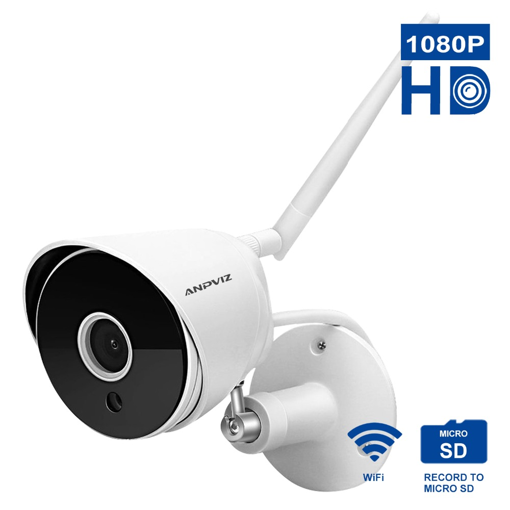 Anpviz HD 1080P IP Camera Wireless Wifi Bullet Camara Outdoor Waterproof Night Vision IR Cut Onvif P2P Home Security Camara 2018