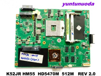 Original for ASUS K52JR laptop motherboard K52JR HM55  HD5470M  512M   REV 2.0 tested good free shipping