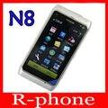 Restaurado original nokia n8 mobile phone wifi gps 12mp 3g gsm 16 gb smartphone desbloqueado n8 mango de almacenamiento
