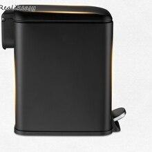 Прямоугольная нержавеющая сталь мусорный бак педаль для дома спальня гостиная с крышкой портативный гостиная мусорное ведро LFB137