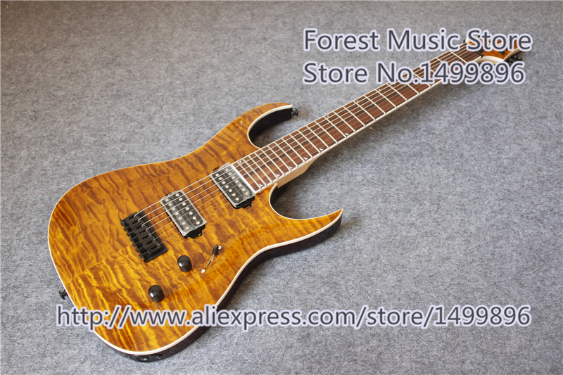 Chinese Brown Quilted Finish Jackson Guitars Electric With Rosewood Fretboard Free Shipping hot selling randy rhoads signature yellow lp electric guitars with ebony fretboard left handed available