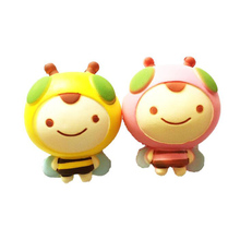 Simulation Cute Little Bee PU Slow Rebound Toy Animal Creative Squeeze Venting Relief Shooting Decoration
