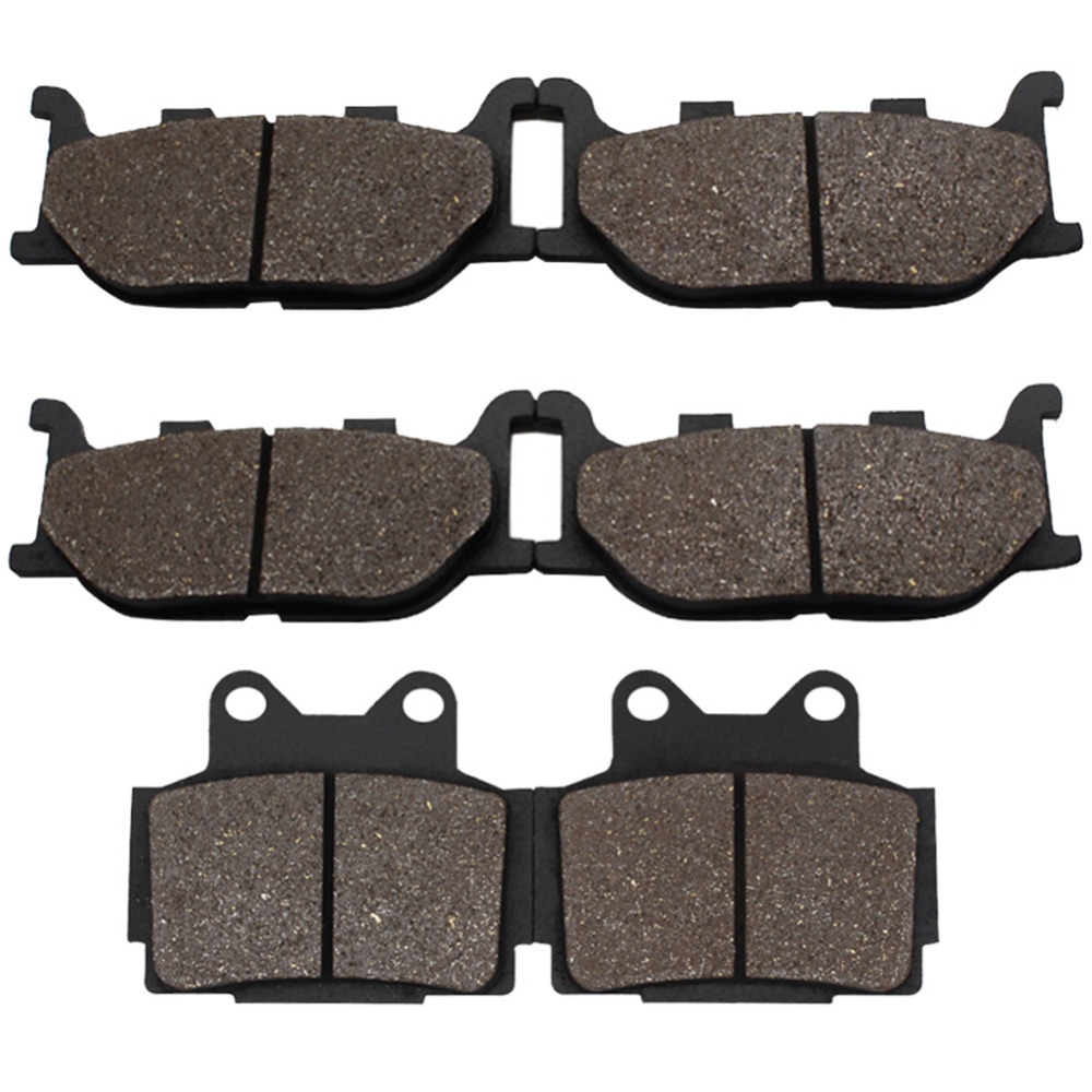 Cyleto Motorcycle Front and Rear Brake Pads for YAMAHA XJ 600 XJ600 XJ600S Diversion 1998-2003 XJ600N 1998-2003