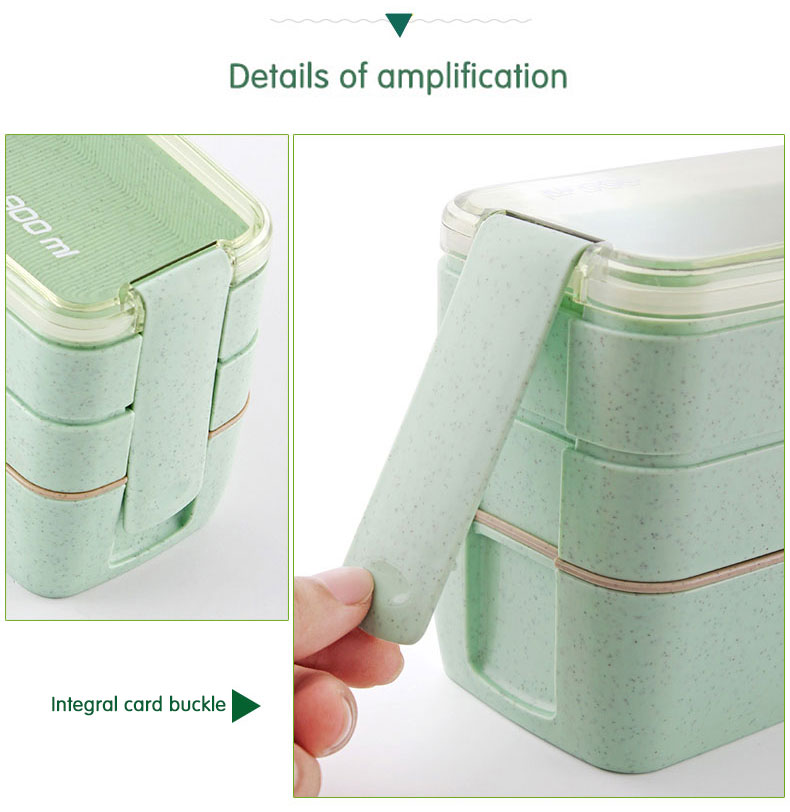 Eco-friendly Wheat Straw Microwave Lunch Box For Kids School BPA-free 18