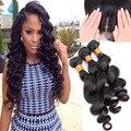3 Bundles Virgin Hair Peruvian Loose Wave With Silk Base Closure Hidden Knots Best Silk Base Closure With Bundles 100g/piece