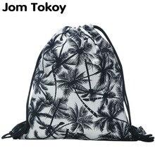 2018 new fashion backpack 3D printing travel softback man women harajuku font b drawstring b font