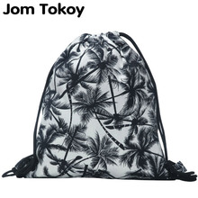 New fashion backpack 3D printing travel softback man women harajuku drawstring bag mens canvas drawstring backpacks