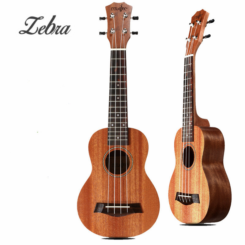 Zebra 21'' 15 Frets Mahogany Concert Ukulele Uke 4 Strings Rosewood Fingerboard Guitarra Guitar For Stringed Musical Instruments zebra 23 26 4 strings mahogany concert guitarra guitar rosewood fretboard bridge ukulele uke for musical stringed instruments