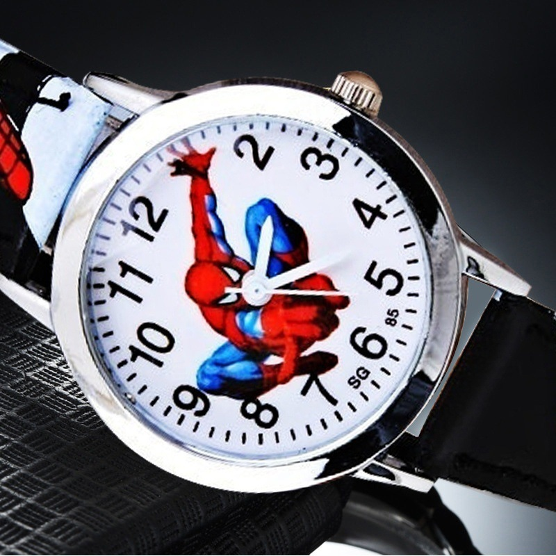 watch  boys watches Spider-Man Belt Children's Watch Handsome Cartoon Pointer Quartz Primary School Boys  kids watch