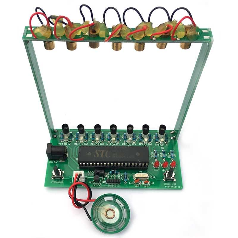 51 SCM לייזר נבל אלקטרוני איבר פסנתר המוזיקה תיבת פאזל טכנולוגיה DIY קיט