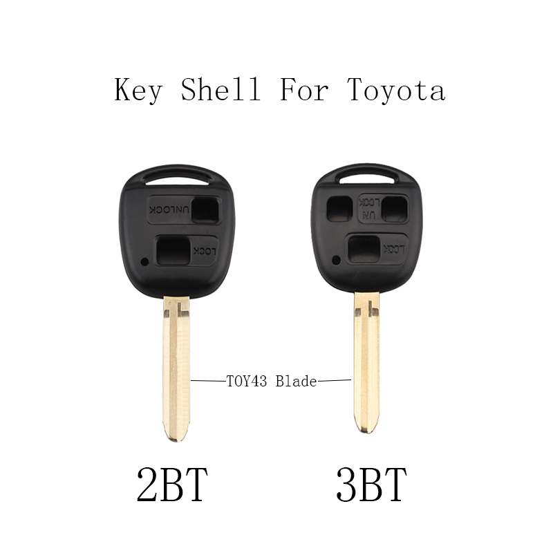 2/3 Buttons Remote key Keyless Fob For <font><b>Toyota</b></font> Camry Prado <font><b>Corolla</b></font> 2003 2004 <font><b>2005</b></font> 2006 2007 2008 2009 Original key shell image