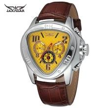 Hombres Triángulo Relojes Cobra Ejército Reloj Mecánico Automático Calendario reloj Deportivo Militar Del Relogio marca de Lujo de Cuero