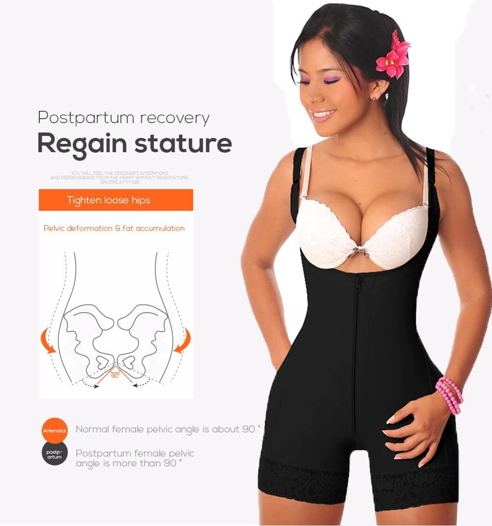 a4304c4d3f8a5 Women Slimming Underwear One Piece Bodysuit Shapewear Lady Underbust Body  Shapers Lingerie Plus Size Waist Trainer