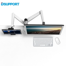 OA-8Z Height Adjustable Double Arm 27 inch Monitor Holder+ Double Arm Tablet PC Stands 360 Degree Rotatable computer desks