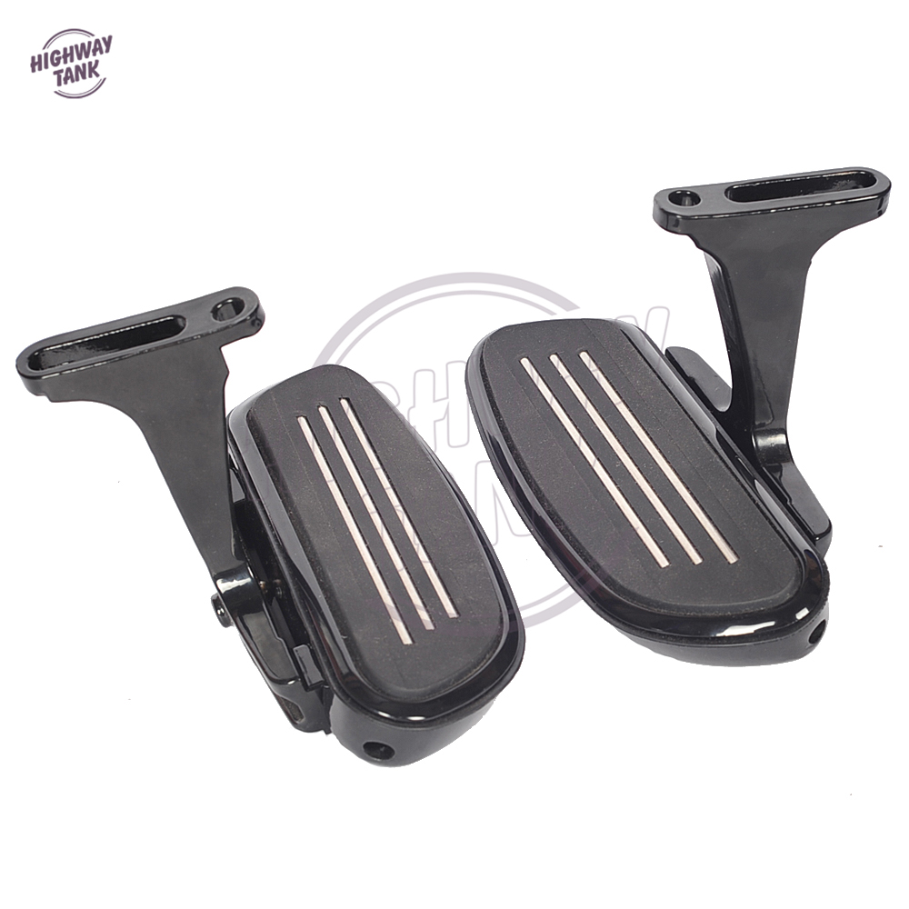 Noir Moto Streamliner Plancher Repose-pieds Repose-pieds Supports pour Harley Touring FLHX FLHR FLTR 1993-2017